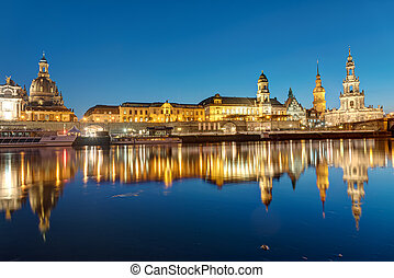 The center of Dresden at dawn