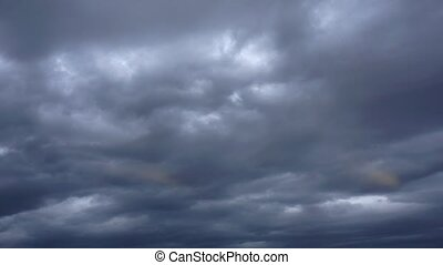 Stormy clouds time lapse - Dramatic stormy clouds time lapse