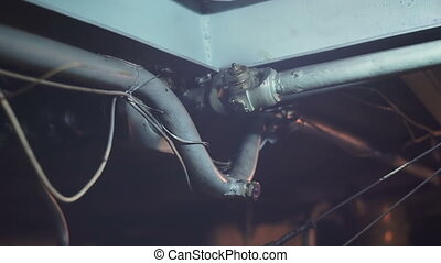 Old ship propeller shaft hd