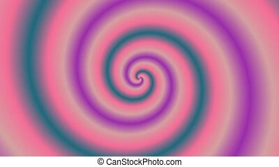 Animated abstract illustration of bright colorful spirals...