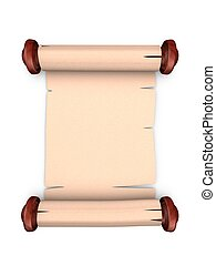 Old scroll manuscript - old parchment manuscript with blank...