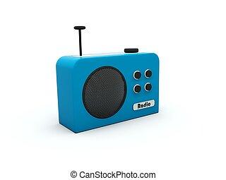 Radio isolated on white