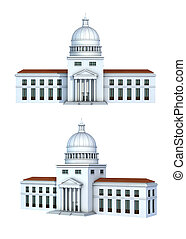 Rendering of a government building