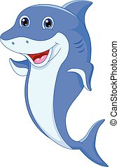 Cute dolphin cartoon - vector illustration of Cute dolphin...