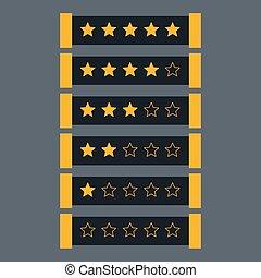 star rating in dark theme