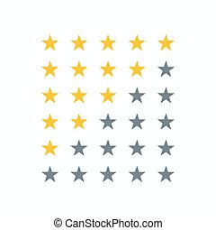 clean star rating sign