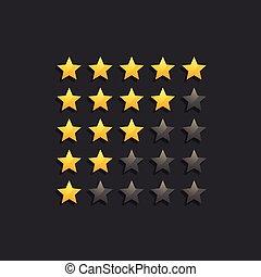 star ranking rating symbols in dark theme