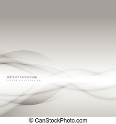 abstract smoky wave on gray background