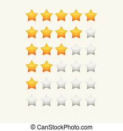 yellow glossy star rating