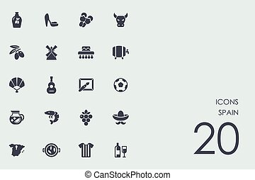 Set of Spain icons - Spain vector set of modern simple icons