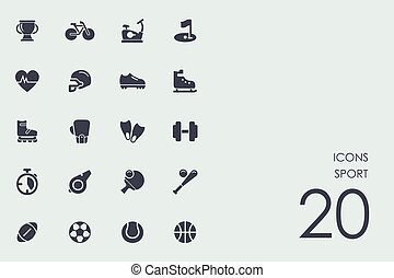 Set of sport icons - sport vector set of modern simple icons