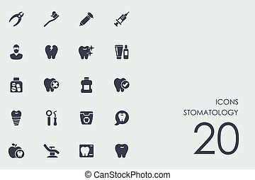 Set of stomatology icons - stomatology vector set of modern...