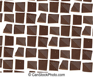 Chocolate pieces background for your design