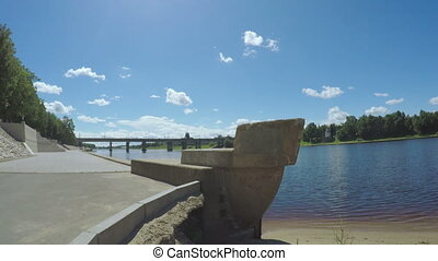City Embankment Pskov - Dynamic view of the city embankment...