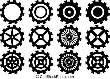 set of gear wheels,