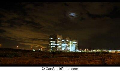 time lapse at night