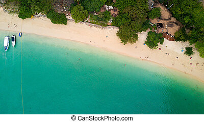Aerial view on Thailand beach - Aerial view of Railay beach...