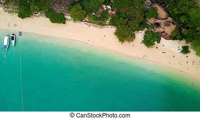 Aerial view on Thailand beach - Aerial view of Railay beach...