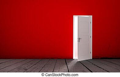 Open door in a empty room