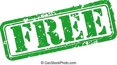 Free rubber stamp - Free green rubber stamp vector...