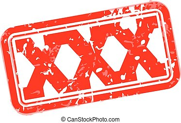 XXX rubber stamp vector illustration
