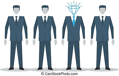 Excellent candidate concept - Human resources, recruitment...