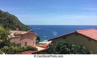 Eze sur Mer and Cap Ferrat, Cote d'Azur, France