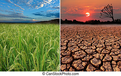 Global warming - Conceptual images demonstrating the...