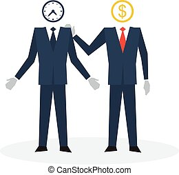 Time is money, trainee concept - Business training, career...