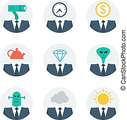 Communication skills concept, people character avatars -...