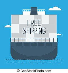 Delivery oversea by ship - Free shipping, sea delivery...