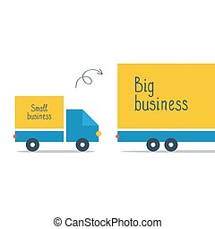 Logistics business, big and small delivery truck - Business...