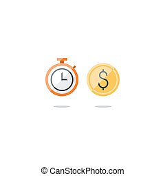 Business time, money and finance icons - Time is money...