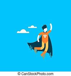 Urgent help, super hero cartoon character