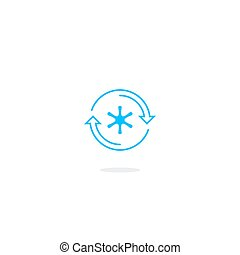 Refrigerator icon, temperature control logo - Cooling...