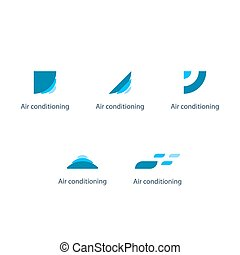 Air conditioning linear logo and icon - Air conditioning...