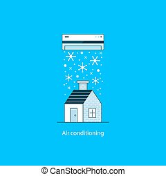 Air conditioning concept - Home air conditioning, climate...