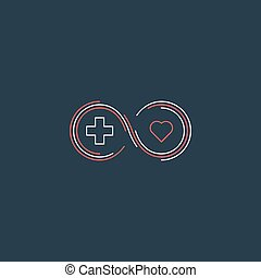 Medical health insurance icon and logo concept - Health...