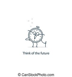Future thinking, time to retire - Retirement concept,...