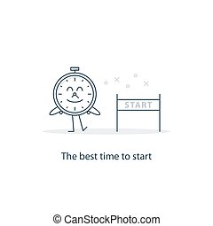 The best time to start - Procrastination concept, time to...