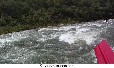 Rafting: POV - white water rafting pov hd footage