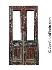 Old timber French doors - Rustic timber French doors