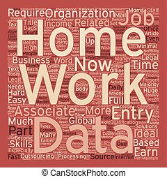 Work From Home Data Entry Jobs text background wordcloud...