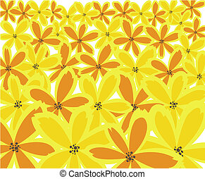 yellow floral background - abstract floral background from...
