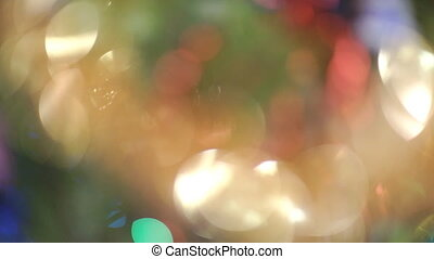 Christmas Blurred Background - New Year Christmas. Blurred...