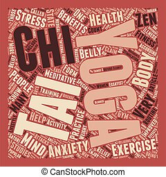 Yoga Tai Chi and the State of Zen text background wordcloud concept