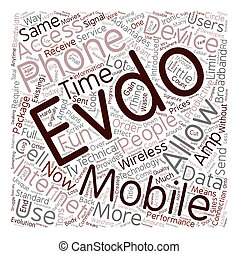You Had Me At EVDO text background wordcloud concept