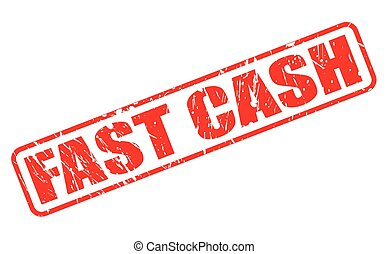 FAST CASH red stamp text on white