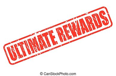 ULTIMATE REWARDS red stamp text on white