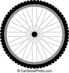 bike wheel - vector draw of bike wheel